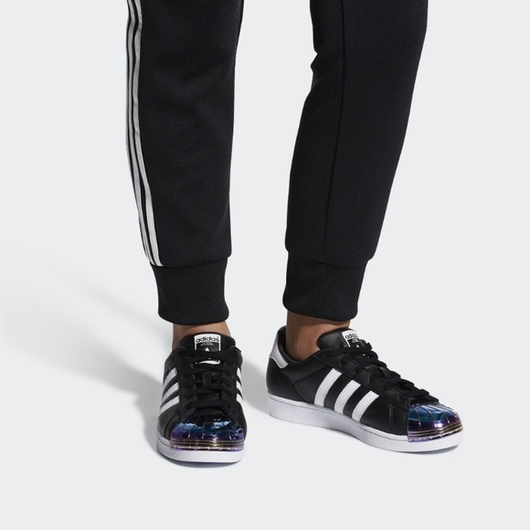 new styles bab85 ece7a Final⚡️Adidas SUPERSTAR MT W iridescent toe Sz 8